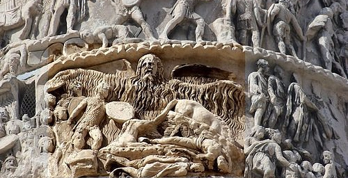 Colonna Aureliana Particolare